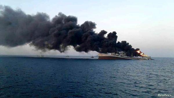 انفجار در کشتی حامل نفت سیاه عراق