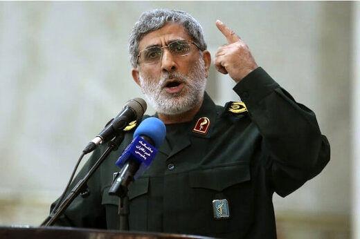 هشدار قاطع فرمانده سپاه قدس به اسرائیل در پی ترور دانشمند ایرانی