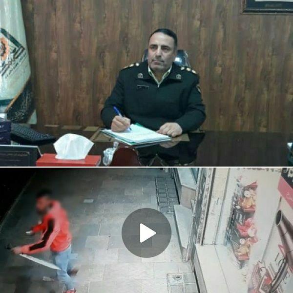 دستگیری فردی که با قمه مزاحم زنان در دماوند میشد/ عکس