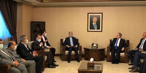 جزئیات دیدار امیرعبداللهیان با وزیر خارجه سوریه