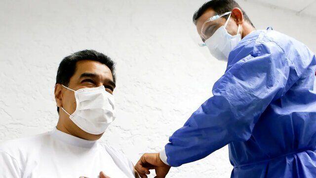 مادورو واکسن روسی تزریق کرد/عکس