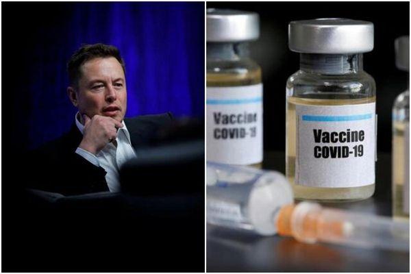 ایلان ماسک در جمع طرفداران واکسن