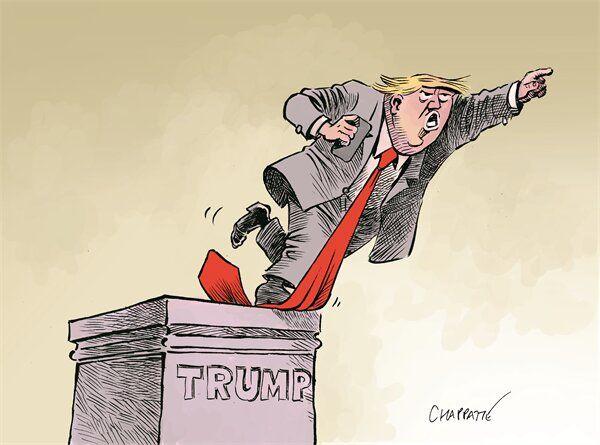 اینم مجسمه ترامپ بعد از نتایج انتخابات!