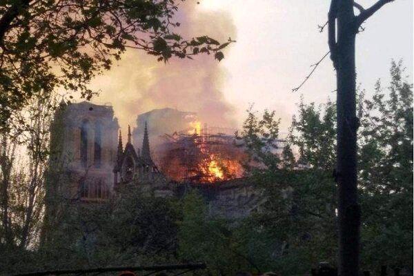 وقوع آتش سوزی وحشتناک در فرانسه