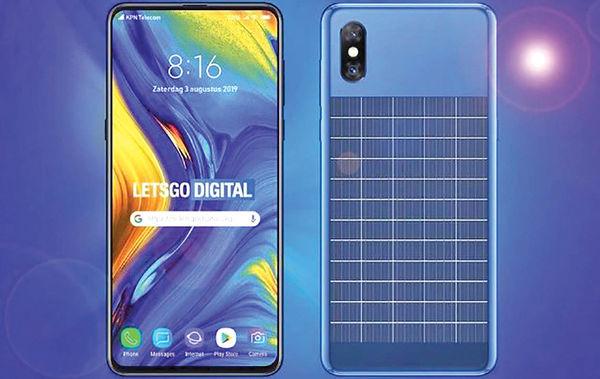 حق امتیاز موبایل خورشیدی شیائومی