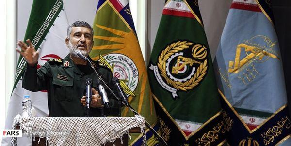 سردار حاجیزاده: عهد بستهایم آمریکا را از منطقه اخراج کنیم