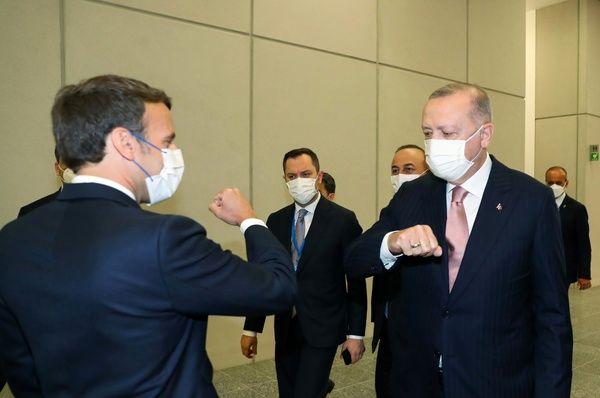 دیدار مکرون و اردوغان در حاشیه نشست ناتو