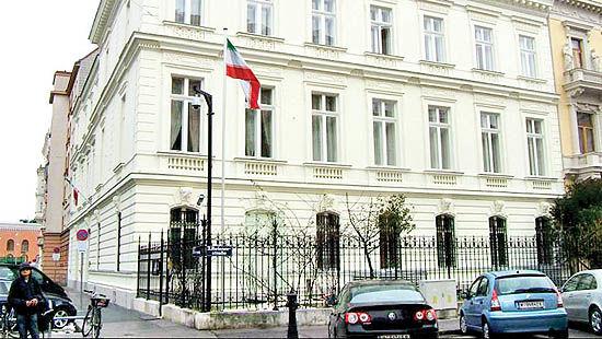 حمله به اقامتگاه سفیر  ایران در اتریش