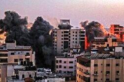 حمله موشکی رژیم صهیونیستی به مرکز غزه
