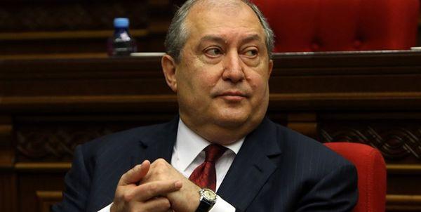 رئیس جمهور ارمنستان در بیمارستان بستری شد