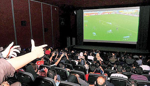 جدال فیلم و فوتبال روی پرده نقرهای