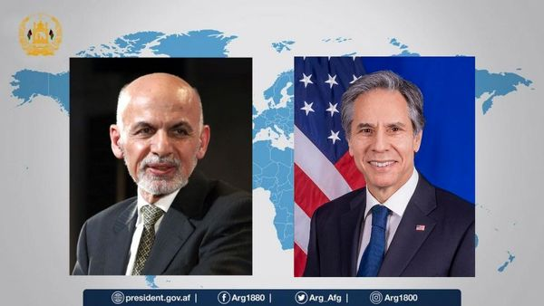 گفتگوی تلفنی اشرف غنی با وزیر خارجه آمریکا