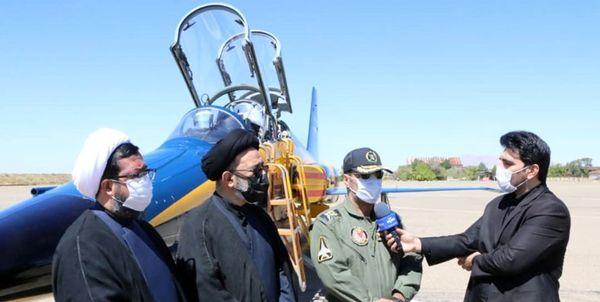 نخستین هواپیمای بمب افکن کوثر به زمین نشست