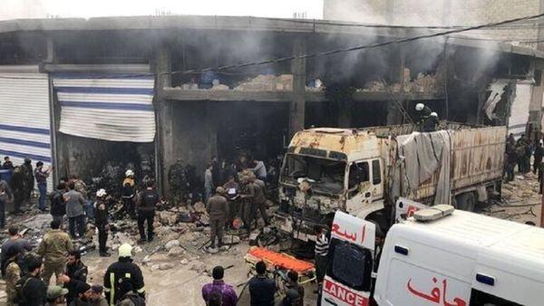 انفجار مهیب در حومه حلب+عکس