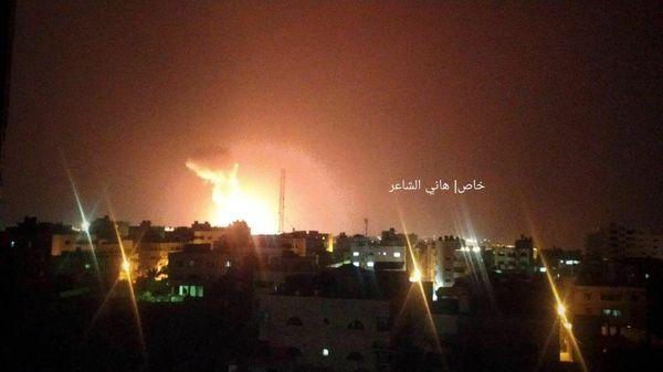 انفجار مهیب در نوار غزه