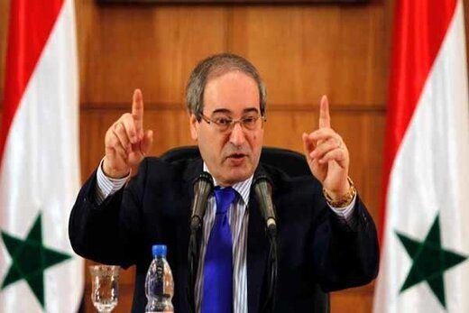 درخواست وزیرخارجه سوریه درباره خروج نیروهای ترکیه از این کشور