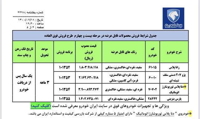 فروش فوقالعاده ایرانخودرو از امروز آغاز شد + جدول