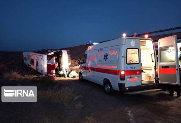 واژگونی مرگبار اتوبوس در اصفهان