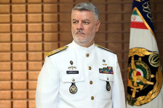 حضور فرمانده نیروی دریایی ارتش در رژه دریایی ارتش روسیه