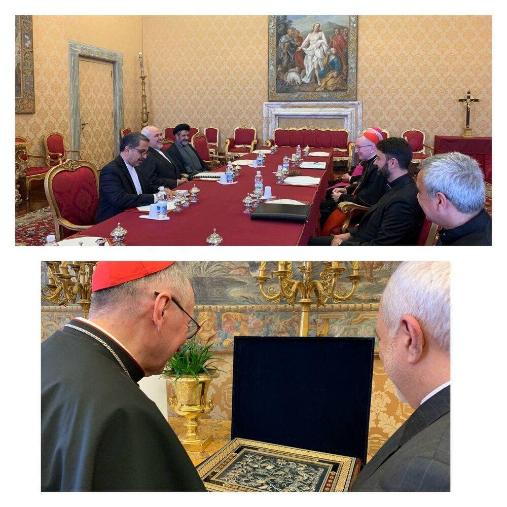 دیدار ظریف با اسقف اعظم واتیکان/عکس