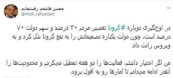شورای شهر تهران , ویروس کرونا ,