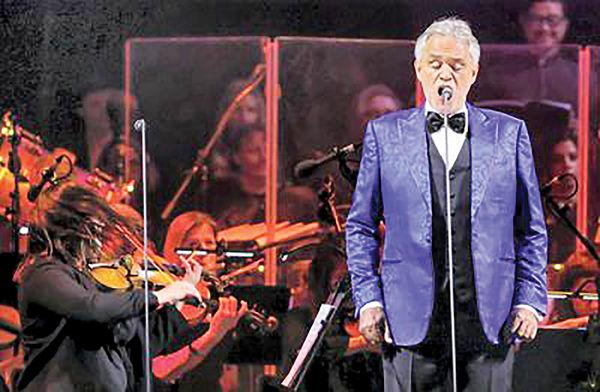 کنسرت آندره بوچلی در دبی