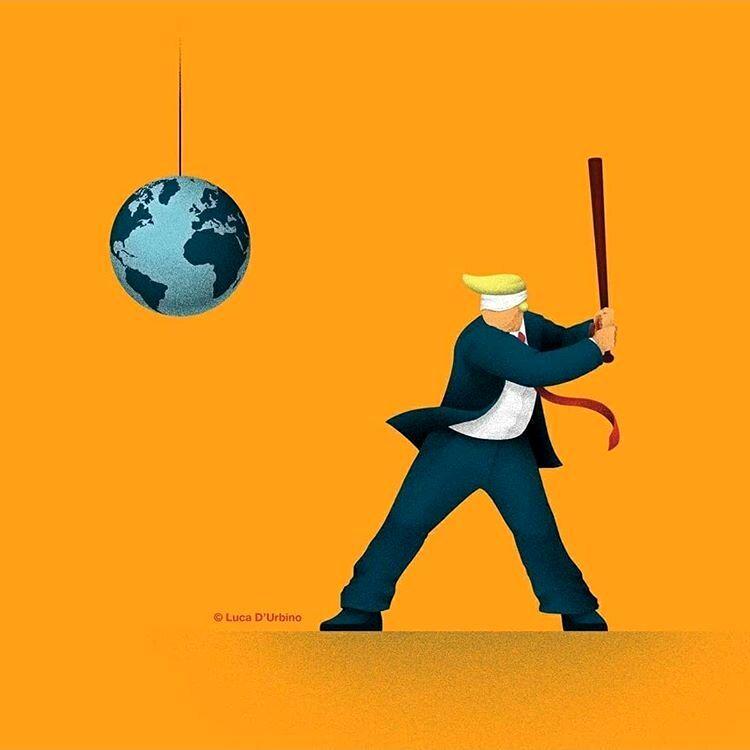ببینید ترامپ با دنیا چه کار میکند!