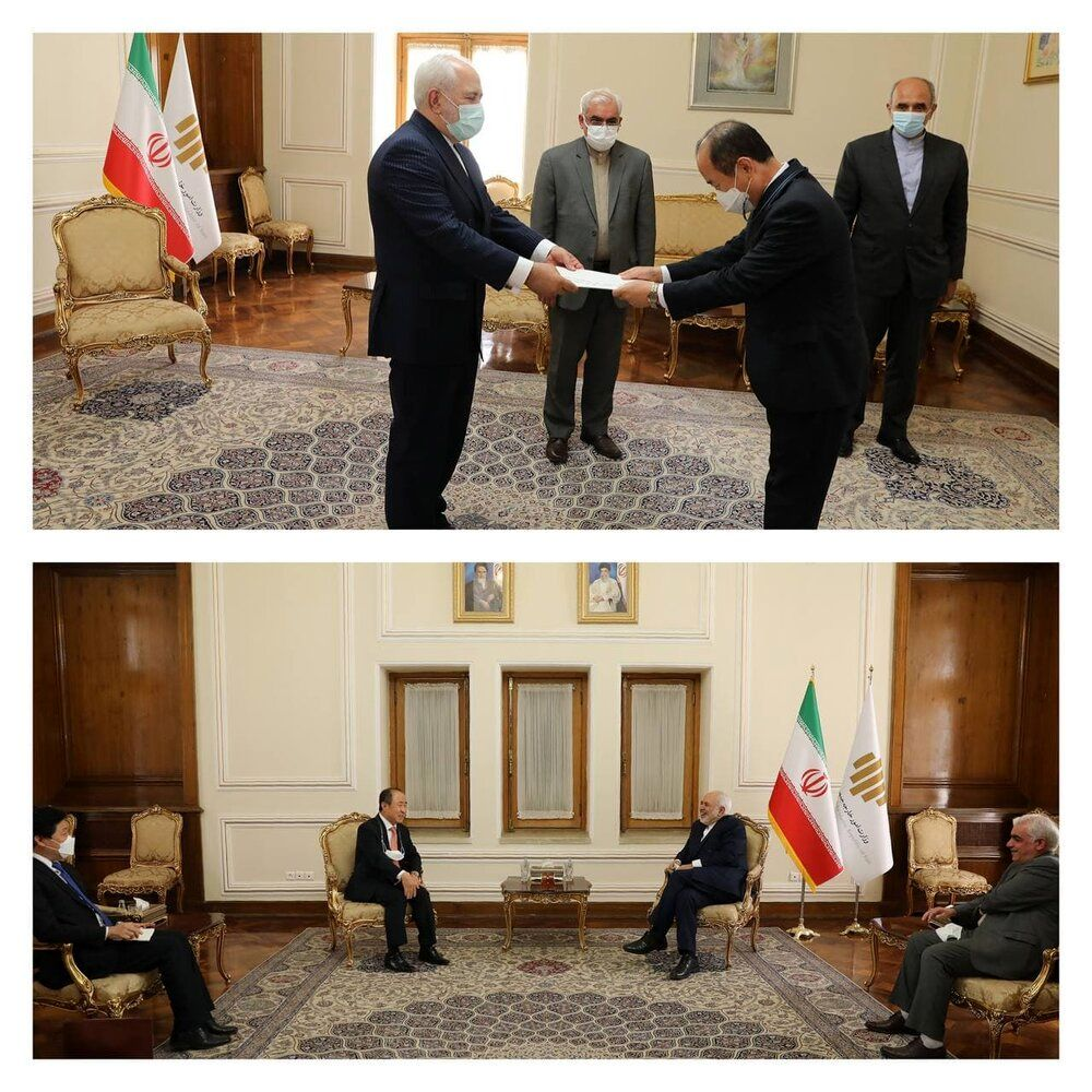 دیدار ظریف با دیپلماتها/عکس