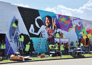 زنده کردن نقاشی دیواری با واقعیت افزوده