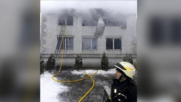 آتشسوزی در یک خانه سالمندان در اوکراین با ۱۵ کشته+ عکس