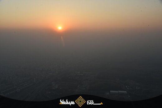تصاویر هوایی نگران کننده از آلودگی هوای تهران