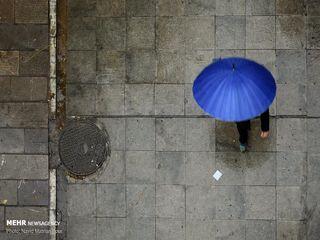 باران پاییزی در تهران