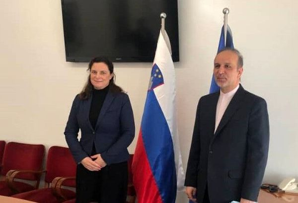 تاکید اسلوونی و ایران بر توسعه روابط پارلمانی و تجاری تاکید کردند