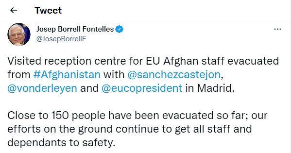 تلاشها برای خروج همه کارکنان افغانِ اتحادیه اروپا ادامه دارد