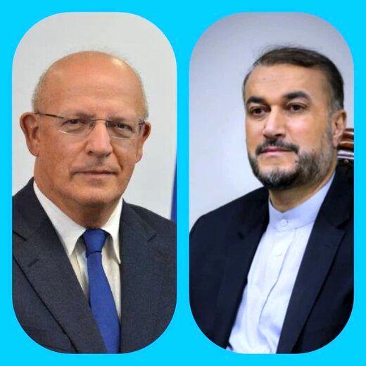 وزیرخارجه پرتغال به امیرعبداللهیان تبریک گفت