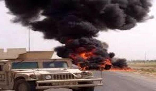 انفجار بمب در مسیر کاروان آمریکایی در عراق