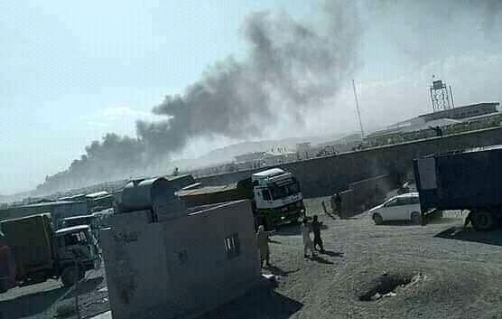 مهار آتشسوزی در گمرک ابونصر فراهی پس از 6 ساعت