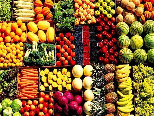 قیمت انواع میوه و صیفی در بازار