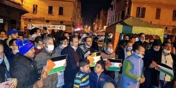 تظاهرات مردم مغرب در محکومیت سازش با رژیم صهیونیستی