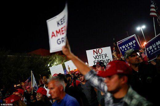 هواداران ترامپ به مراکز رأیگیری هجوم بردند