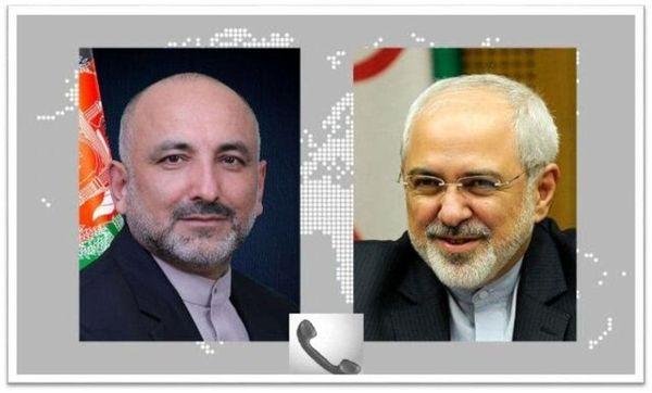تبریک ظریف به وزیر خارجه افغانستان