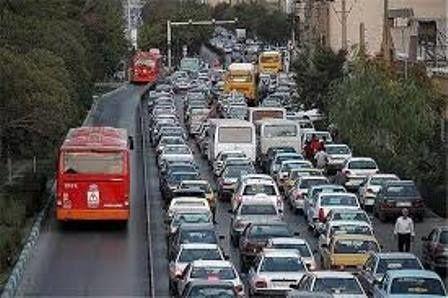 وضعیت ترافیکی معابر بزرگراهی و اصلی پایتخت
