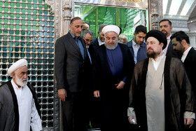 تجدید میثاق رییس جمهور و اعضای هیات دولت با آرمان های امام راحل