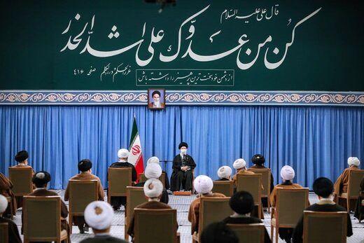 تصویری از دیدار اعضای مجلس خبرگان با رهبر انقلاب