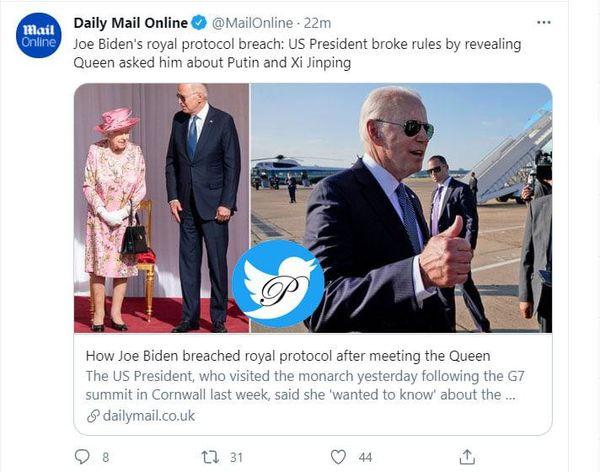 بایدن قوانین سلطنتی را نقض کرد