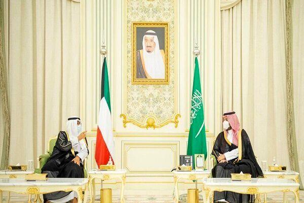 دیدار و گفتگوی ولیعهد سعودی با همتای کویتی