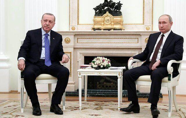 اردوغان پوتین را به ترکیه دعوت کرد