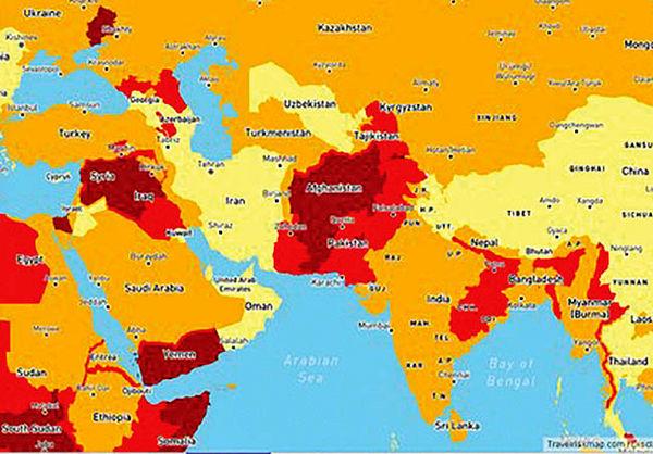 درجه امنیت ایران برای توریستها