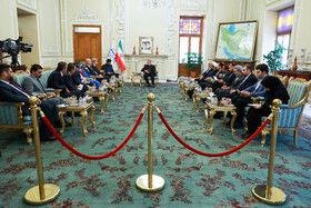 دیدار بشیر الحداد نائب رییس مجلس نمایندگان عراق با علی لاریجانی رییس مجلس شورای اسلامی