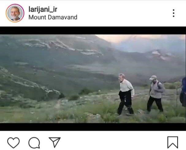 کوهنوردی علی لاریجانی بعد از ردصلاحیتش + عکس